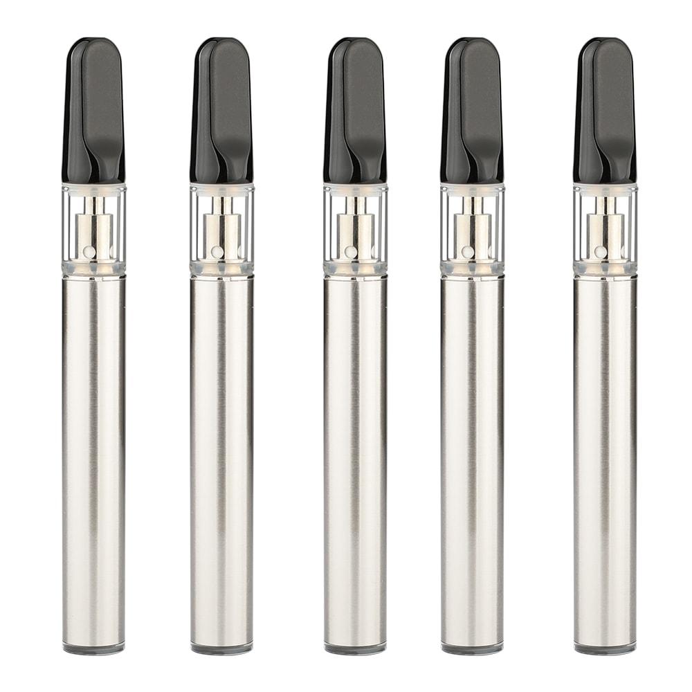 0 3ml Disposable CBD Vape Pen Black Flat Ceramic Mouthpiece (100 qty ) -  (as low as $3 0/unit wholesale)